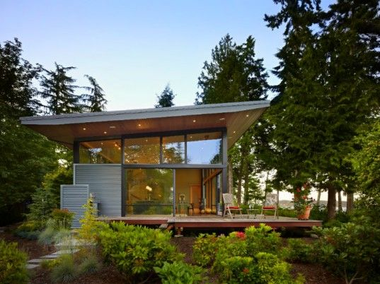 Modern Green Home port ludlow residence is a modern & simple green home on puget