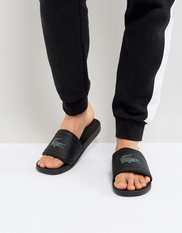 e915b7c4d Lacoste Fraisier Croc Slider Flip Flops