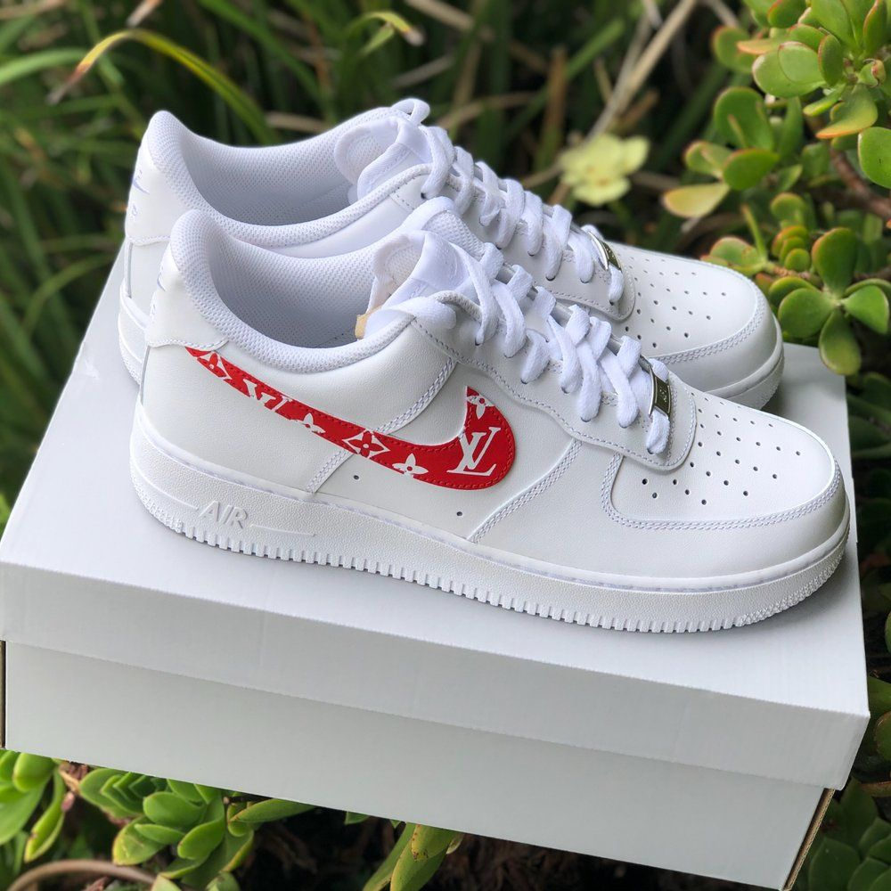 Image of Air Force 1 x Supreme Louis Vuitton Customs