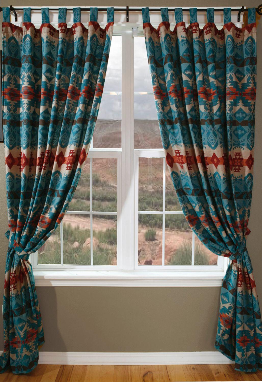 Chamarro Window Treatments Santa Fe Company Okc Western Home Decor Turquoise Living Room Decor Bohemian Decor Diy #western #living #room #curtains