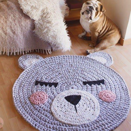 Patrones trapillo alfombra de trapillo modelo oso for Modelos de alfombras