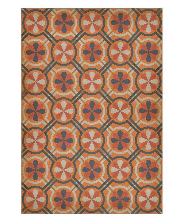 Take A Peek At This Gallery Of Linoleum Flooring Ideas: Take A Look At This Orange & Gray Madame Curie Vinyl