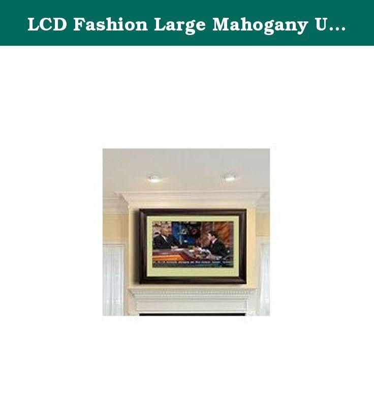 LCD Fashion Large Mahogany Universal TV Frame. Turn any TV into a ...