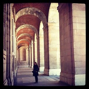 Mi mujer, en el Palacio Real de Madrid.[2012/2/20@SPAIN,Madrid]