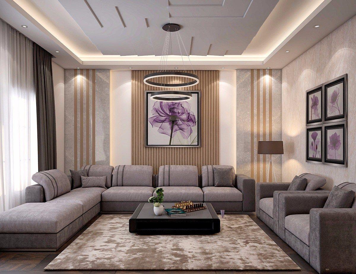مجلس نساء مودرن بتصميم عصري وبسيط واللوان هادئه واضاءه خافته واختار المصمم بعض الاكسسوارا Luxury Living Room Design Modern Living Room Brown Luxury Living Room