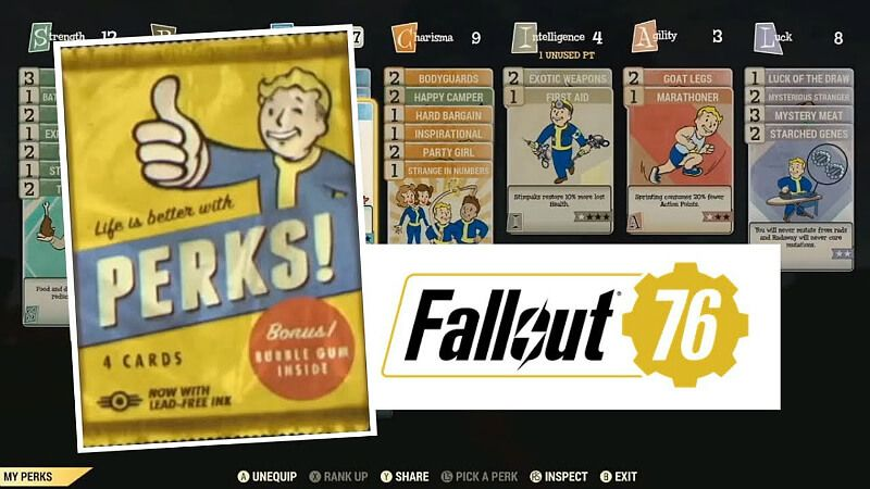 Datamined New Perk Cards Fallout 76 Perks Card Cards Party Girls