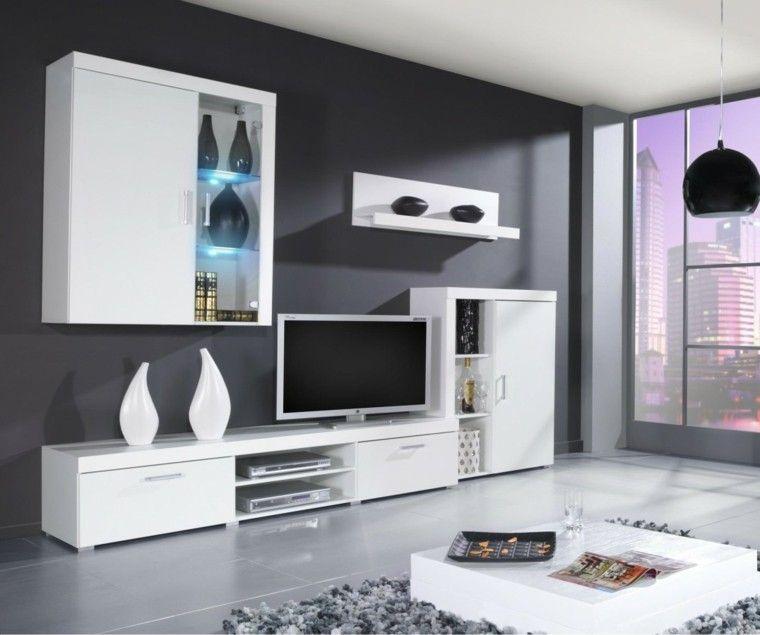 Roble flor muebles modernos buscar con google casa - Muebles modernos tv ...