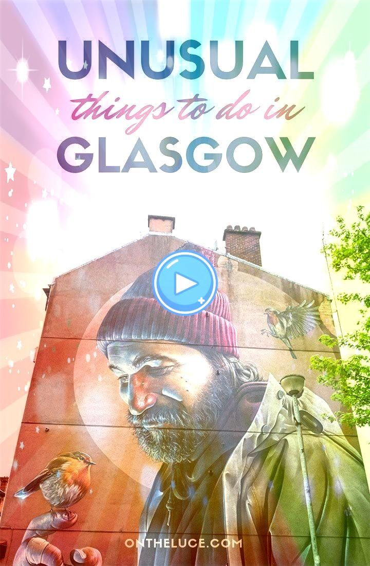 unusual and alternative things to do in Glasgow Scotland  featuring hidden gems including the mural trail gin spa Clyde boat trips and moreThe best unusual and alternativ...