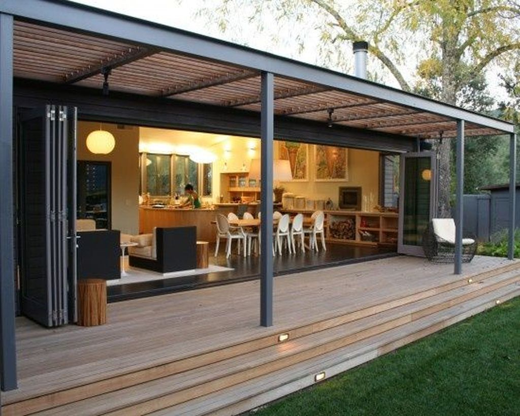 Awesome 39 Modern Homes Decorating With Black Exteriors More At Https Homystyle Com 2018 07 20 39 Modern Homes Decora Porch Design Modern Porch Modern Patio