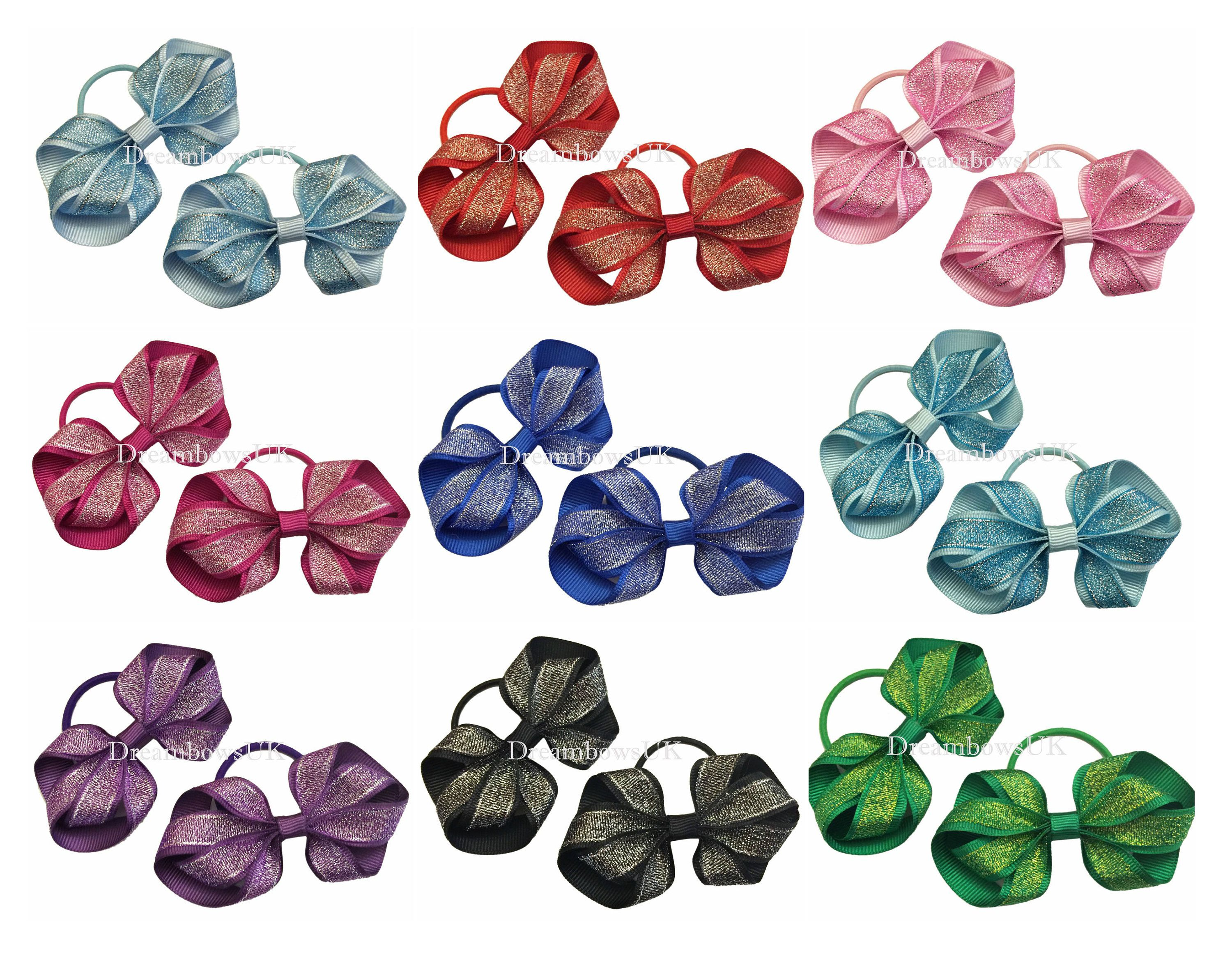 Girls glitter hair bows 00df83be5bc