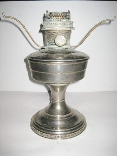 Lovely Vintage Aladdin Oil Lamp Model 12 Nickel Finish Lamps Antiques