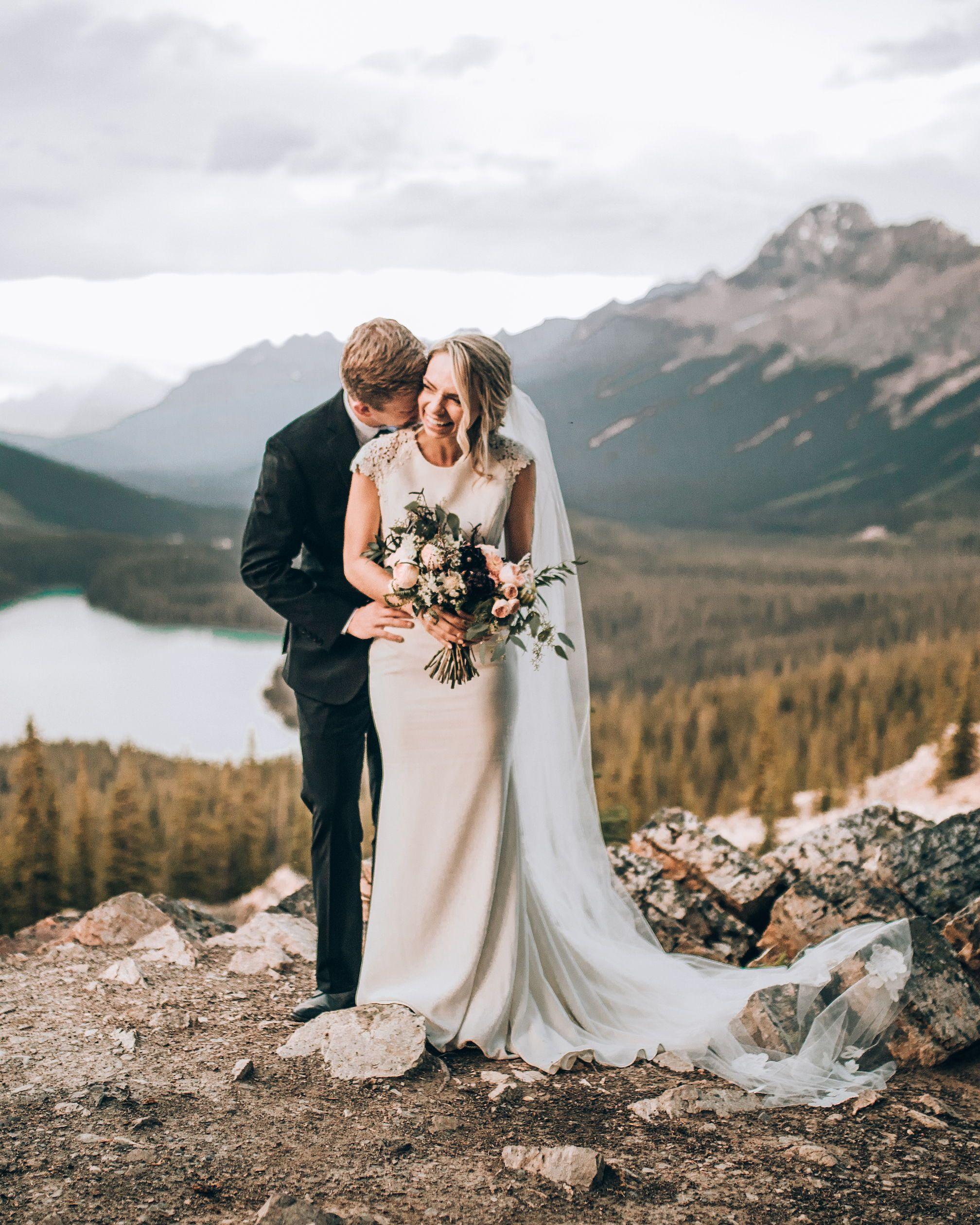 Real Bride Kaestle In A Custom Mikaella Gown. Photo: Duke