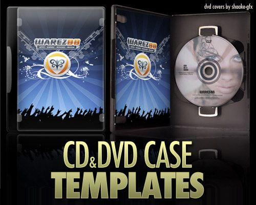 7 Free Photoshop CD and DVD Case Templates | Photoshop, Template and ...