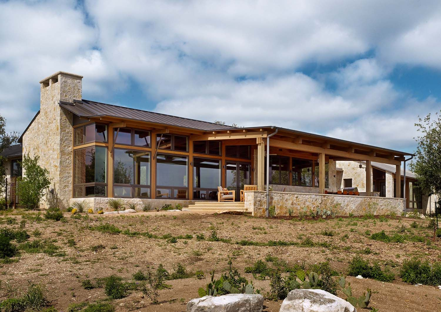 Fresh Twist On The Classic Ranch Style Home In Texas Hill Country Country Home Exteriors Texas Hill Country House Plans Hill Country Homes