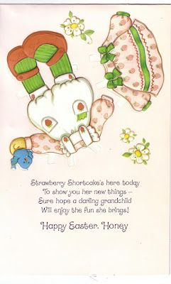 Strawberry Shortcake Card with Paper Doll and Clothes 3