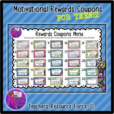 Rewards coupons for teens motivational behavior management rewards coupons for teens motivational behavior management strategies fandeluxe Choice Image