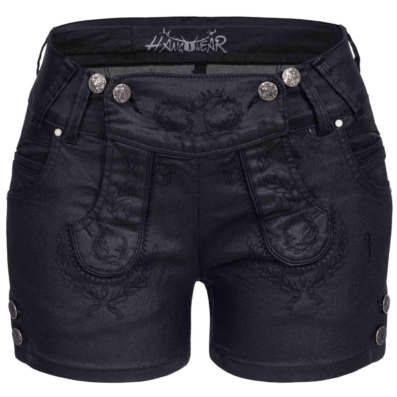 Jeans-Lederhose Schwarz von Hangowear   wardrobe   Pinterest 09edfaeb76
