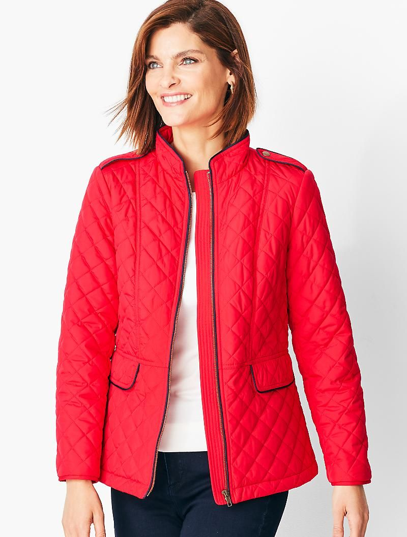 Quilted Jacket Talbots Military Coat Quilted Coat Women Military Coat Womens [ 1057 x 800 Pixel ]