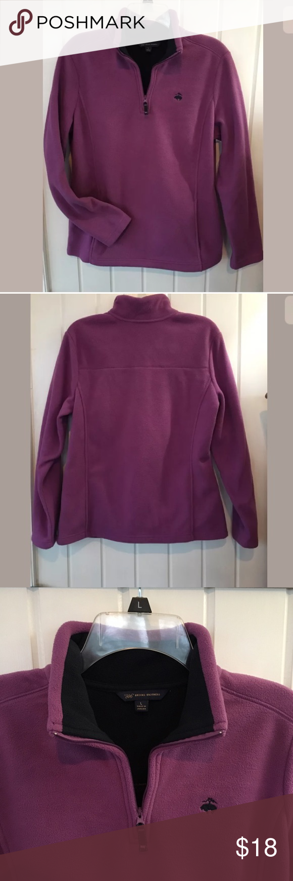 Brooks Brothers Fleece Pullover Size L Perfect winter pullover by Brooks Brothers.  Size Large in GREAT condition Brooks Brothers Tops Sweatshirts & Hoodies