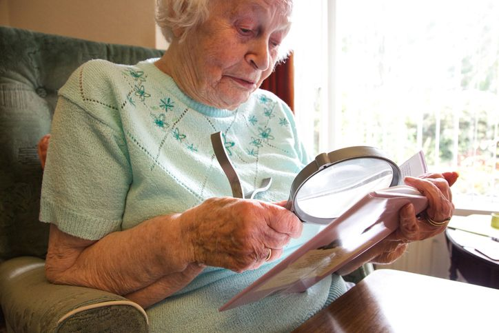 Elder Care Strategies for Visually Impaired Seniors. Here are our strategies to help reduce the risk of injury for seniors with low vision and make day to day life easier to navigate!