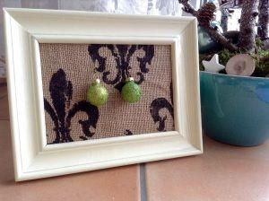 Ohrringe glitzer grün