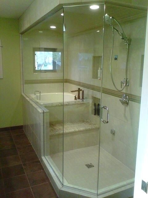 Soaking Tub Shower Combosoaking Combination Ideas Bathtub | Tub ...