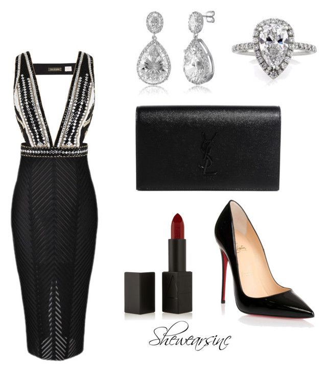 Date Night  by kisses4everrr on Polyvore featuring polyvore, fashion, style, sass & bide, Christian Louboutin, Yves Saint Laurent, BERRICLE, Mark Broumand and NARS Cosmetics