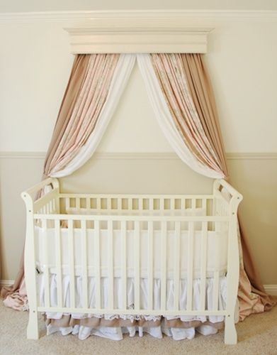 How To Create A Bed Crown Makely Bed Crown Crib Canopy Diy Crib