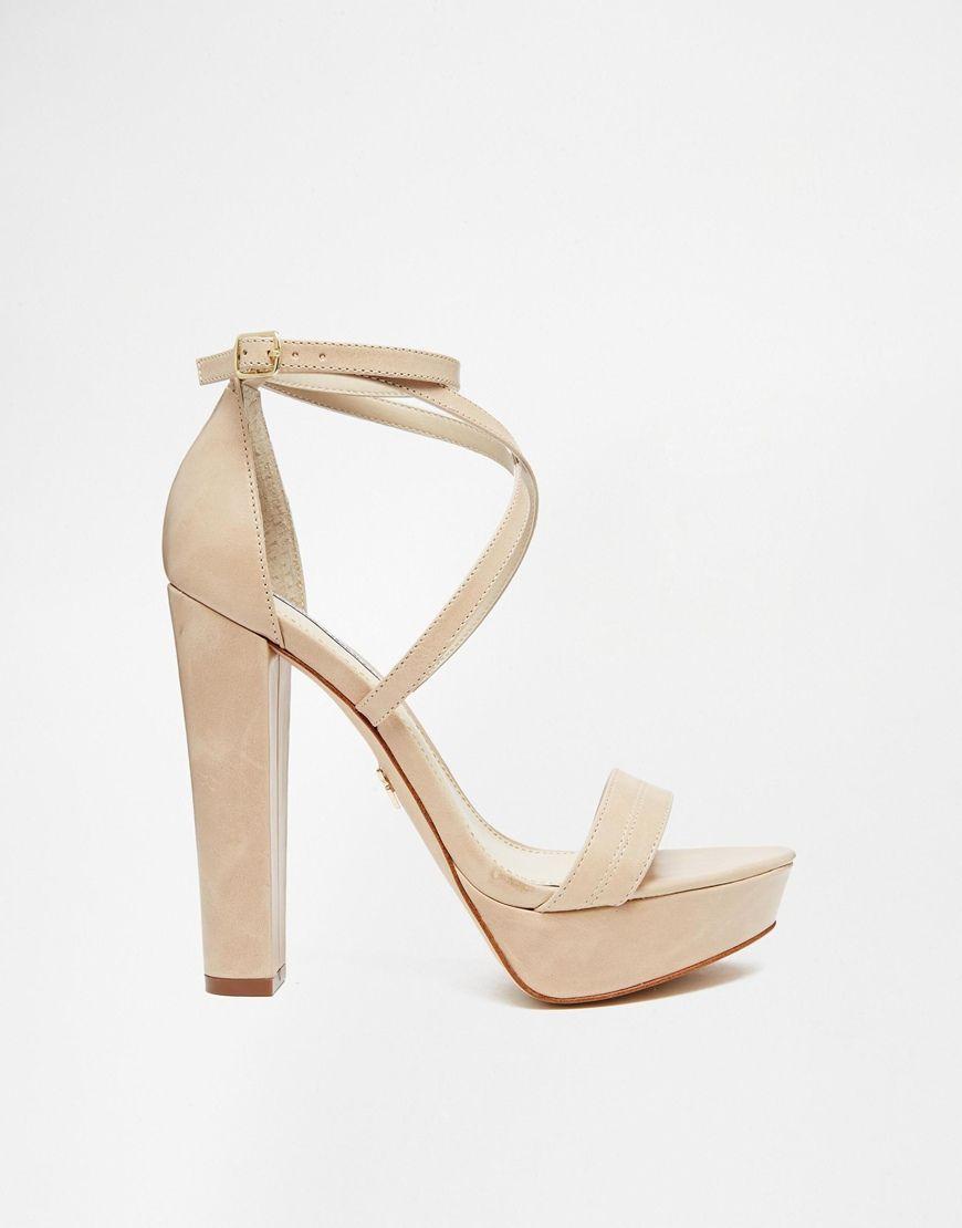 cf4d06c5fa3 Image 2 of Windsor Smith Mariah Nude Leather Platform Heeled Sandals ...