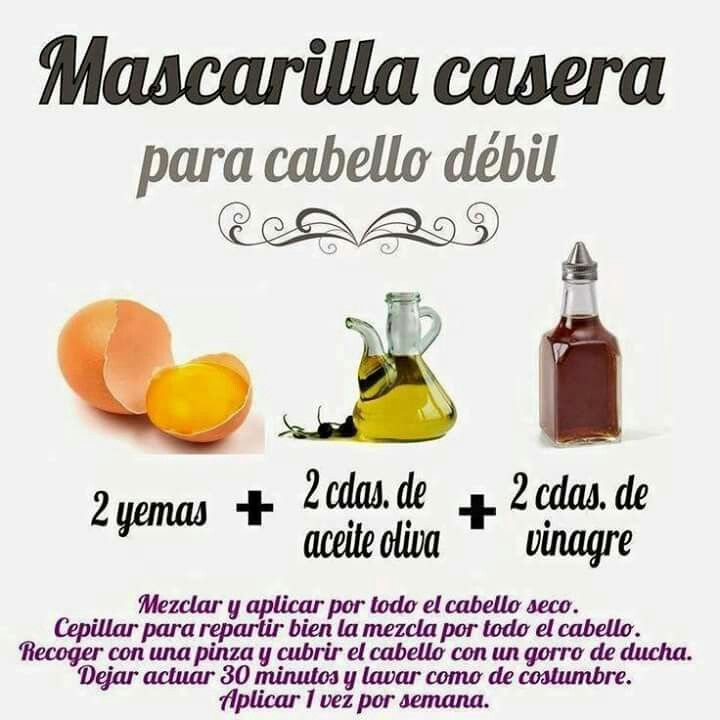 Mascarilla Casera Parq Cabello Débil Moisturize Hair Hair Care Hair Mask