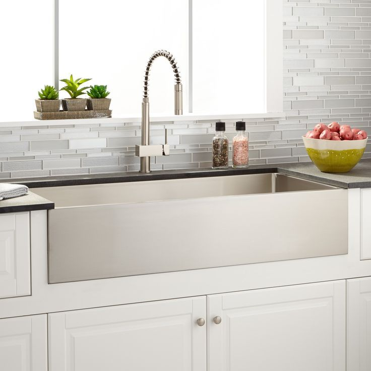 """39"""" Optimum Stainless Steel Farmhouse Sink  Stainless Steel Gorgeous Stainless Kitchen Sinks Decorating Design"""