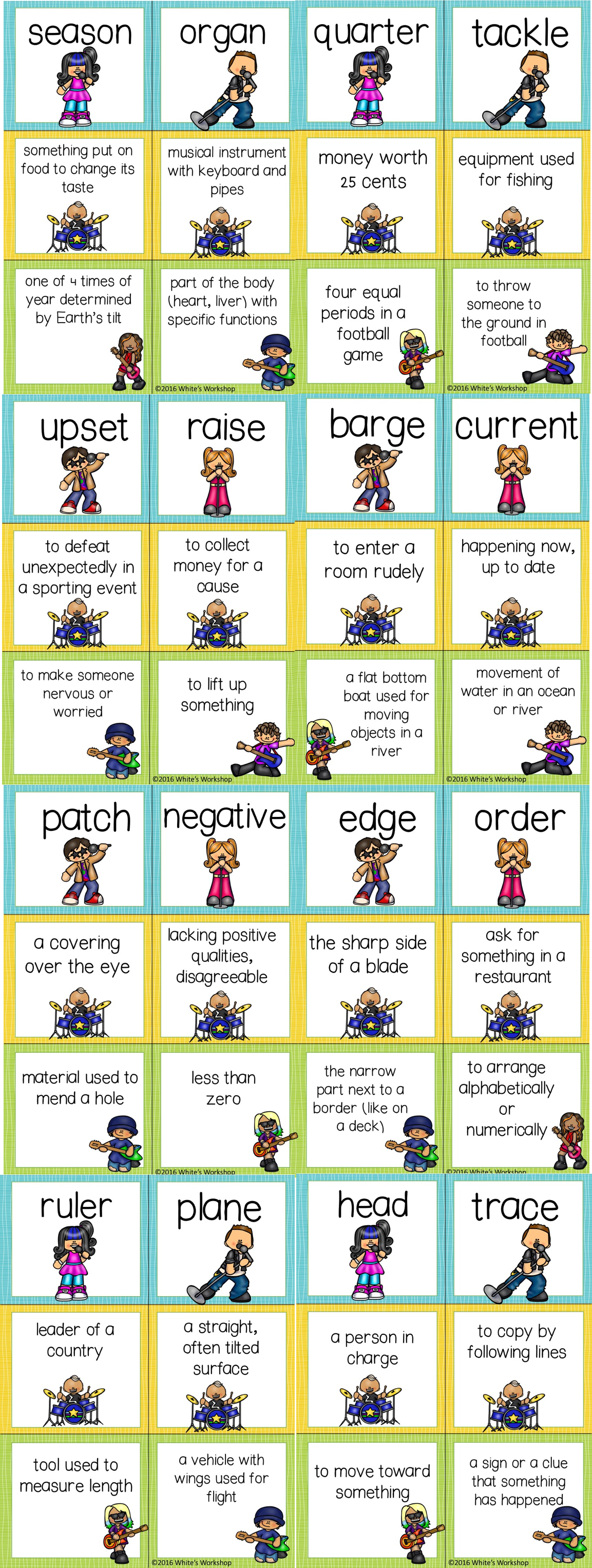 Multiple Meaning Word Activities With Images