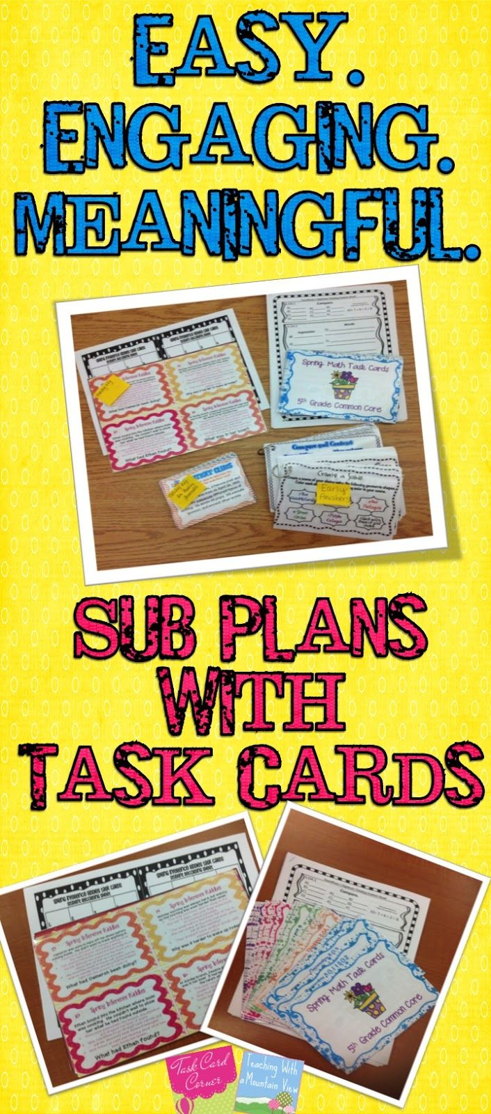 this post is about easy sub plans using task cards the site is all about utilizing task cards. Black Bedroom Furniture Sets. Home Design Ideas