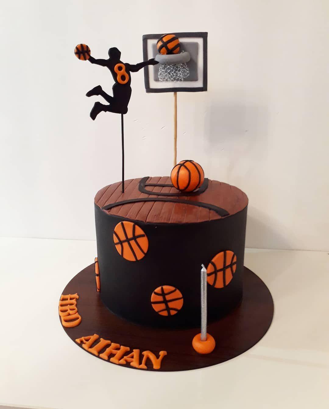 کیک بسکتبالی کیک خانگی کیک تولد کیک خونگی خوشمزه کیک کیک فوندانتی کیک شکلاتی ک Basketball Birthday Cake Basketball Cake Basketball Birthday Parties