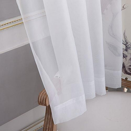 Nicetown Sheer Curtain Panels Bedroom Home Decoration