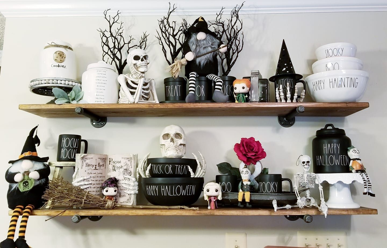 Rae Dunn Halloween Display Halloween displays, Halloween