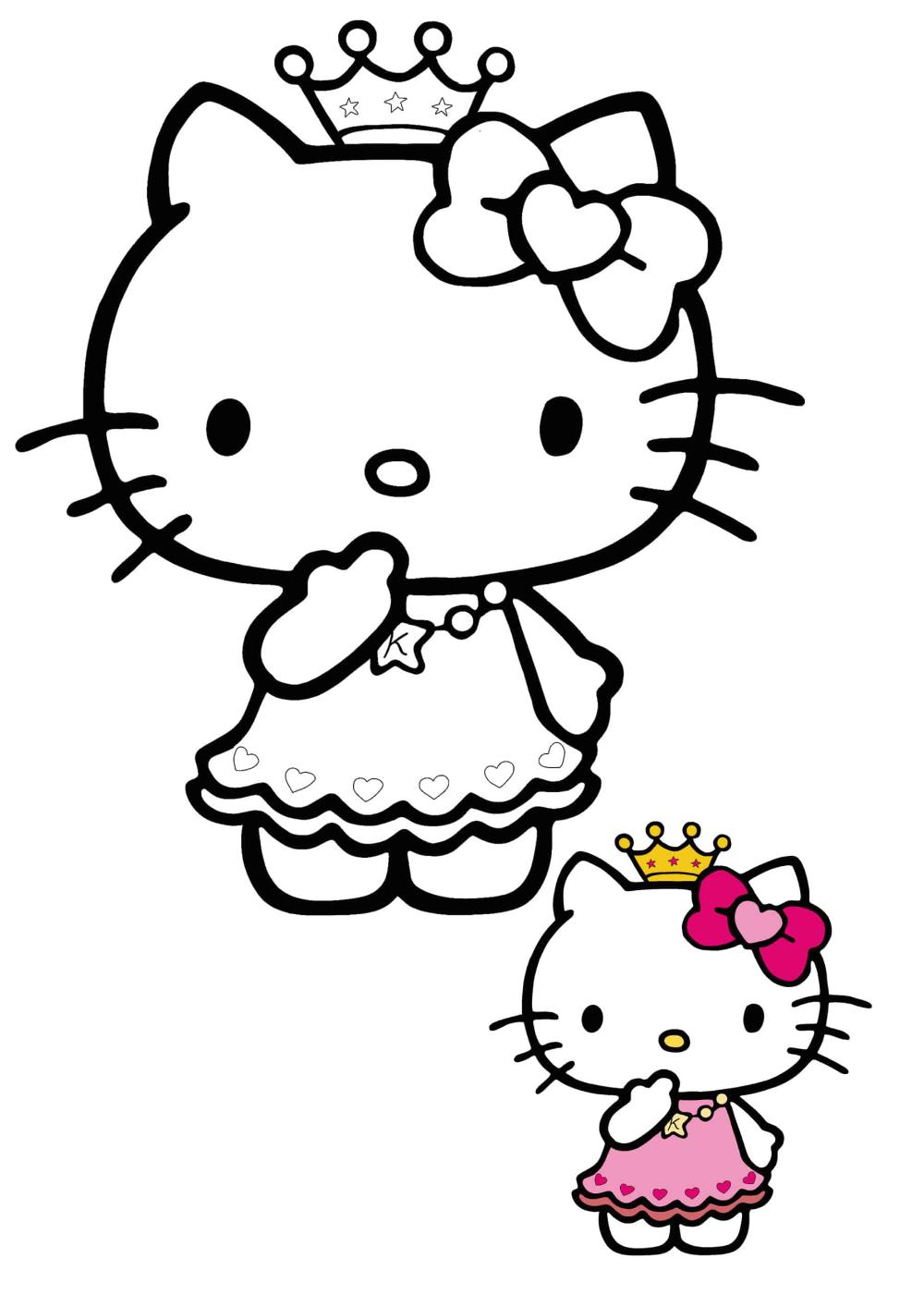 Hello Kitty Princess Coloring Pages 2 Free Coloring Sheets 2020 Princess Coloring Pages Hello Kitty Coloring Princess Kitty