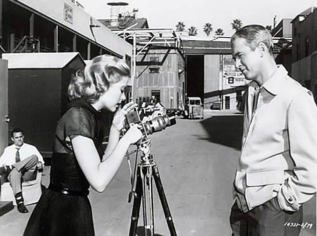 Grace Kelly and James. Stewart