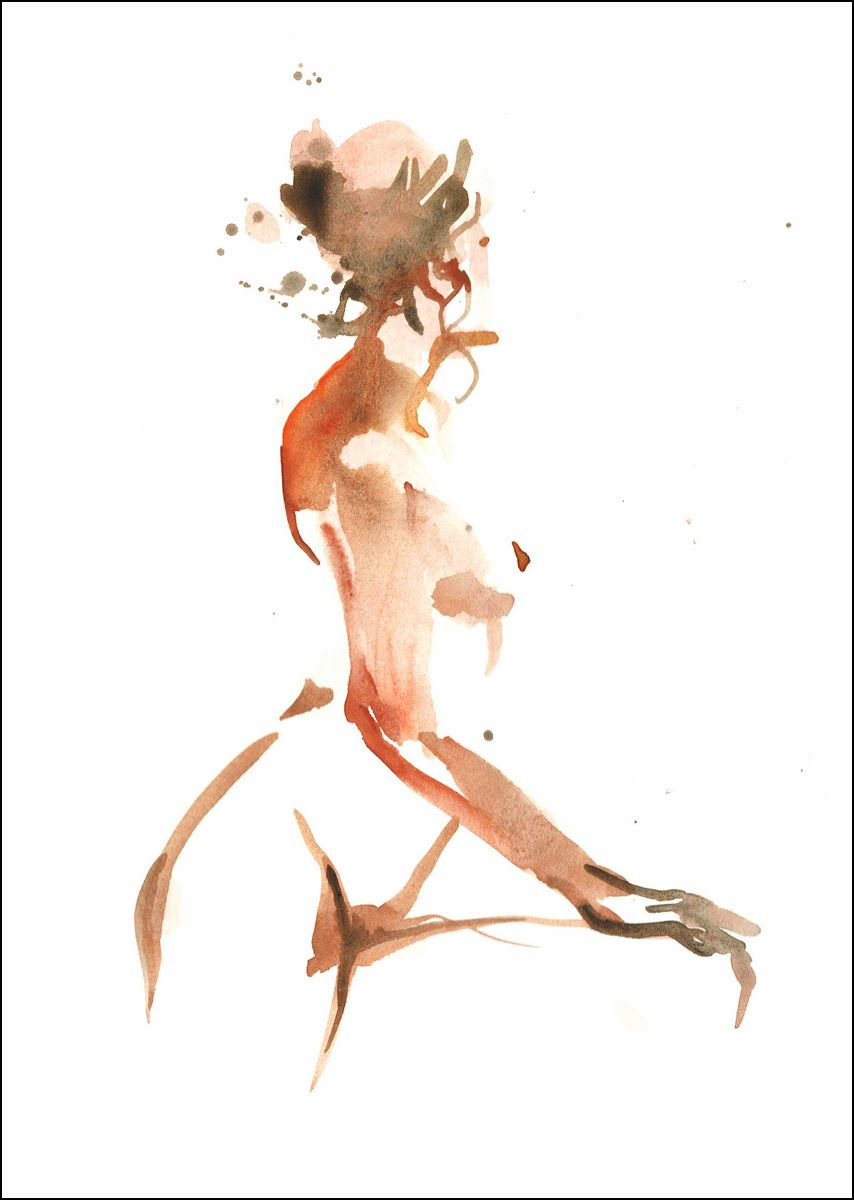NUDE PAINTING & DRAWING : Figer Painting (WATERCOLOR)
