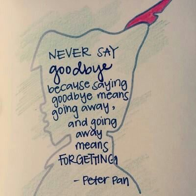 I Will Never Say Goodbye Cuz Im Not Going Anywhere Ever Preach