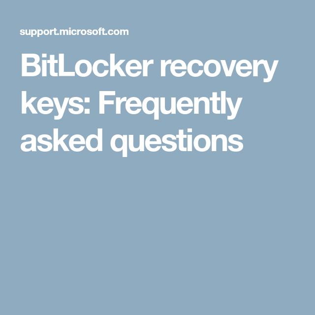 By B Hints    Find My Bitlocker Recovery Key Windows 10
