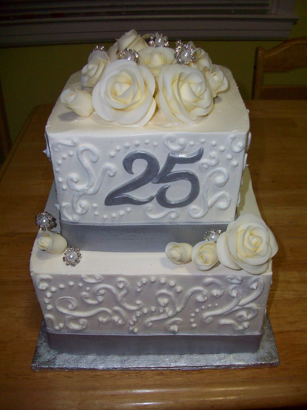 Happy Silver Wedding Anniversary Cakes Th Silver Or Golden Wedding