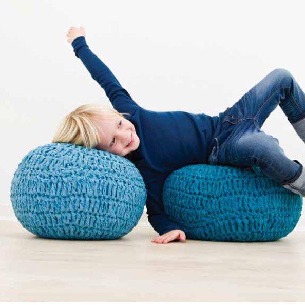 В нашем интернет-магазине представлены вот такие, очень популярные сейчас и стильные, вязаные пуфики в ассортименте✨ Разные цвета и размеры, дети их очень любя!