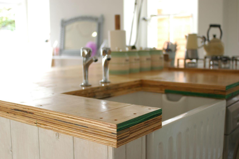 Diy kitchen island worktop plywood kitchen diy kitchen