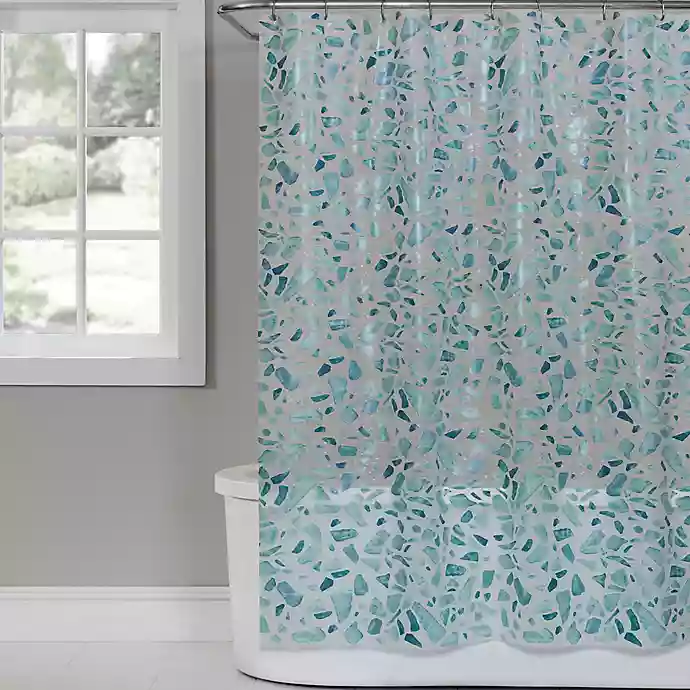 Saturday Knight Sea Glass Peva Shower Curtain Vinyl Shower