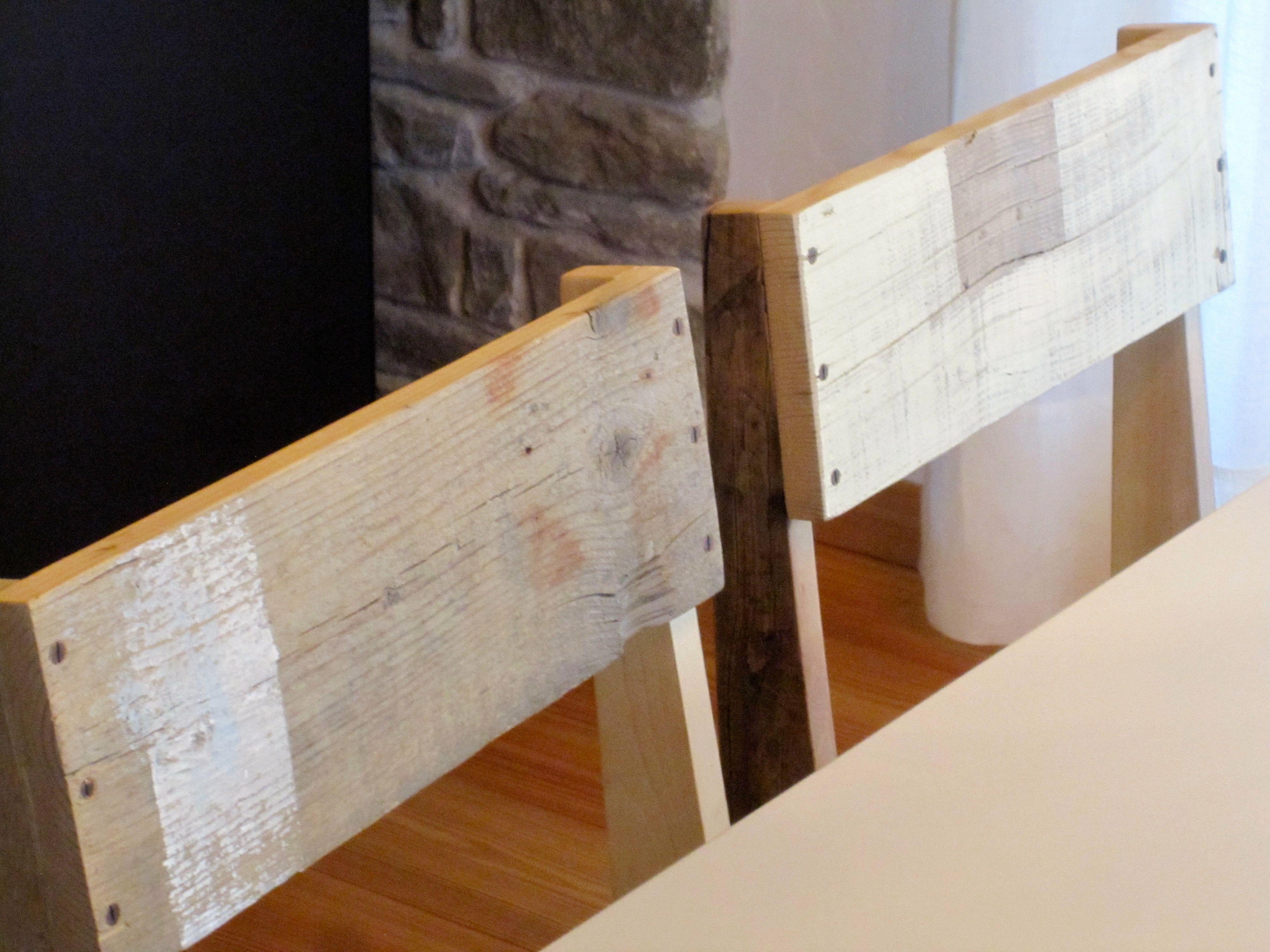 Sedie Riciclate ~ Sedie realizzate con legni riciclati e finitura con cera opaca di