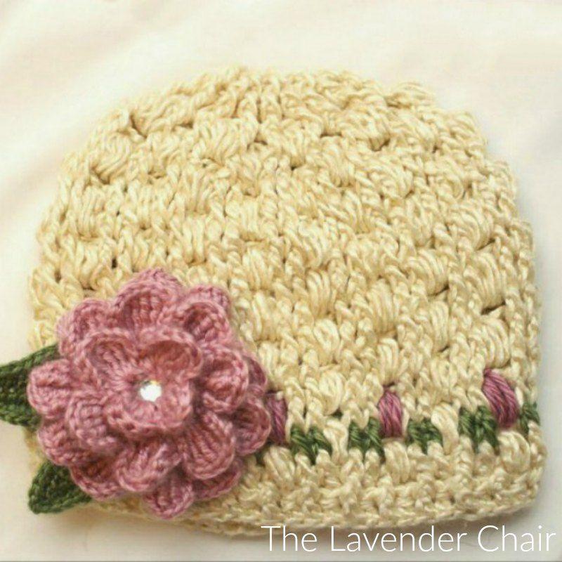 Rose Garden Beanie Crochet Pattern | crochet | Pinterest | Tejido