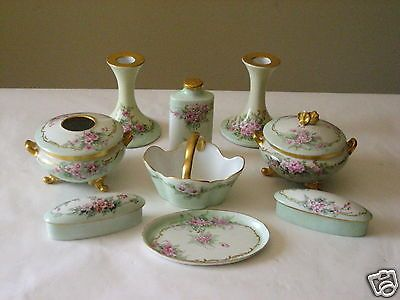 13 pc porcelain tv limoges gda france uno favorite bavaria dresser