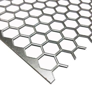 Steel Ornamental Hexagonal Holes Perforated Sheet 041 X 12 X 12 Steel Sheet Steel Perforated