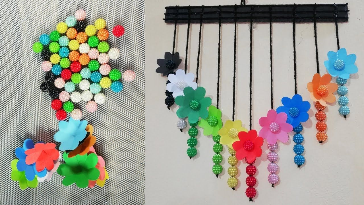 Diy Room Decor Handcraft With Kadam Pearl Home Decor Paper Craft Ideas Handcraft Room Diy Bottle Crafts